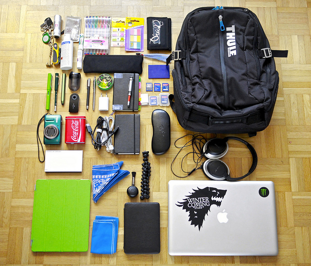 "Image (CC) - Do8y, ""What's in my bag January 1, 2013 no Timbuk2 :("" (Flickr)"